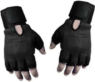 DaylFora Gym Gloves / Sports Gloves / Fitness Gloves/ Training Gloves / Weight Lifting Gym & Fitness Gloves(Black)