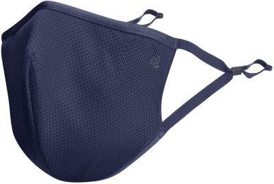 JOCKEY Unisex Face FM02-IMPBL Cloth Mask With Melt Blown Fabric Layer(Blue, M, Pack of 2)