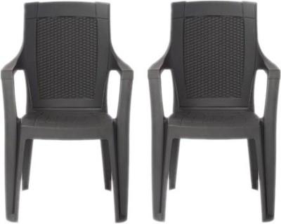 Restomatt Mystique Plastic Outdoor Chair(NA, Set of 2)