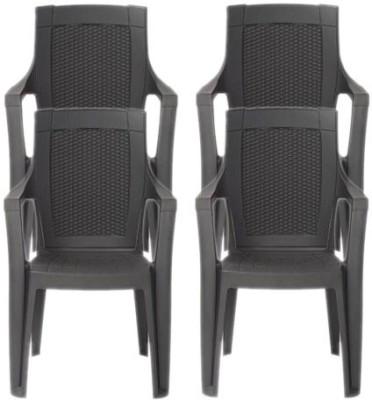 Restomatt Mystique Plastic Outdoor Chair(NA, Set of 4)