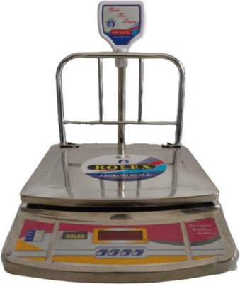 JAGRUTI SCALE 350x400MM Jumbo Weight Machine Upto 50KG Capacity Pole Display SS Body Weighing Scale(Silver)