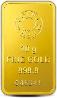 MMTC PAMP India Pvt Ltd Lotus series 24  9999  K 20 g Gold Bar MMTC PAMP India Pvt Ltd Coins   Bars