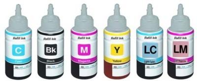 Printcare Refill Ink Epson L800 Ink Tank Printer   6 Colors   70 ML Each Bottle Black + Tri Color Combo Pack Ink Toner Printcare Printers   Inks