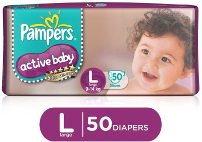 Pampers Active Baby Taped Diapers 5 Star Skin Protection   L