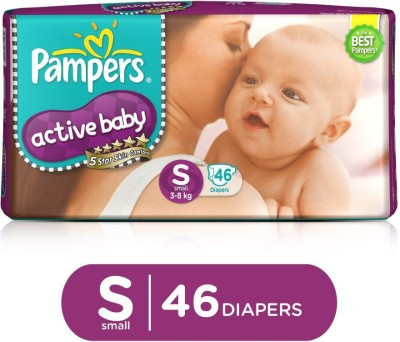 Pampers Active Baby Taped Diapers 5 Star Skin Protection   S