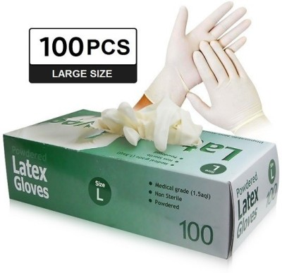 E Solutions mediical glove-556 Rubber, Nitrile, Latex Surgical Gloves(Pack of 100)