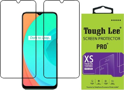 Tough Lee Edge To Edge Tempered Glass for Realme Narzo 30a, Realme Narzo 20, Realme Narzo 20A, Realme C11, Realme C12, Realme C15, Realme C3, Realme 5, Realme 5i, Realme 5s, Oppo A9 2020, Oppo A5 2020, Realme Narzo 10, Realme Narzo 10A, Oppo A31(Pack of 2)
