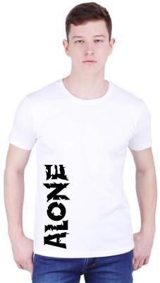 Tee town Printed Men Round Neck White T-Shirt