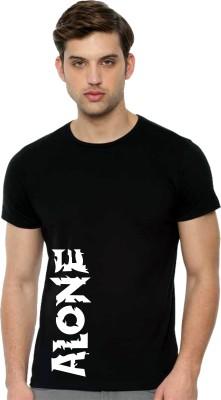Tee town Printed Men Round Neck Black T-Shirt