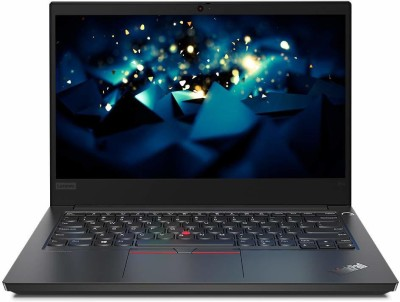 Lenovo Core i5 10th Gen - (8 GB/500 GB SSD/DOS) ThinkPad E14 Thin and Light Laptop(14 inch, Black)