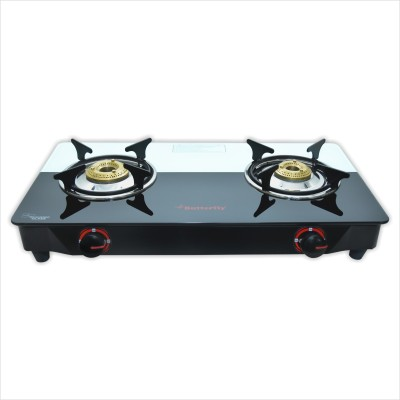 Butterfly Rapid Plus Glass Manual Gas Stove(2 Burners)