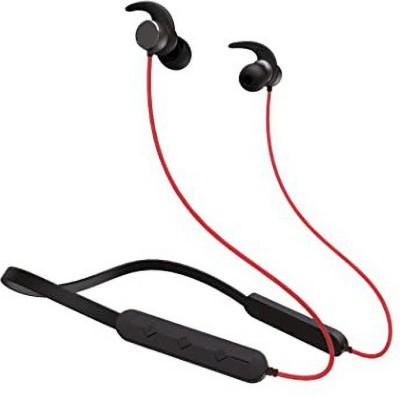 Masoori RockerZ 255R Compatible in Boat Bluetooth Headset(Black,Red, Wireless in the ear)
