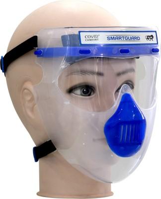 Covid Comfort Smartguard Reusable Face Shield Safety Visor(Size - Freesize)