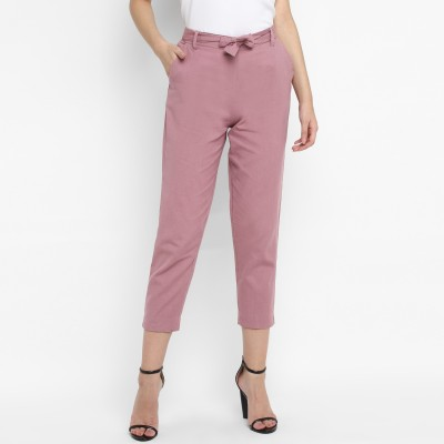 Adesa Regular Fit Women Purple Trousers