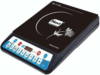 Inext IN03 Smart Cook Induction Cooktop(2000W) - Black Induction Cooktop(Black, Push Button)