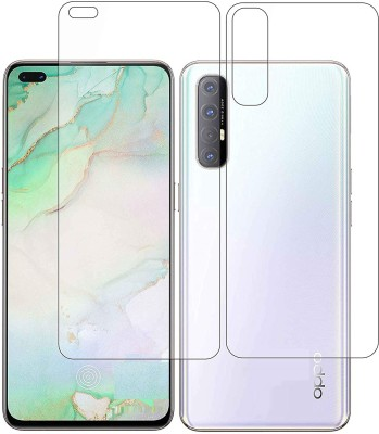 ELEF Front and Back Tempered Glass for Oppo Reno 3 Pro(Pack of 2)