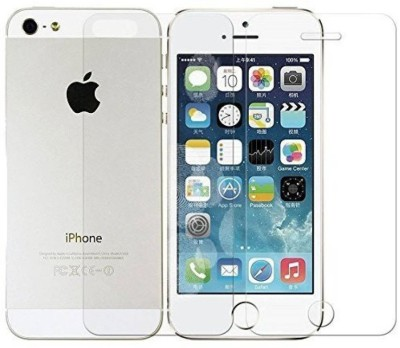 ELEF Front and Back Tempered Glass for Apple Iphone 5(Pack of 2)