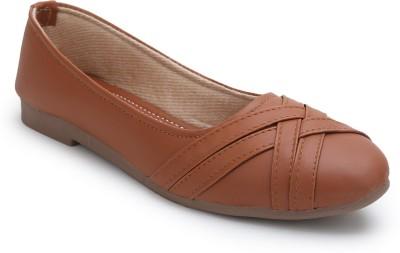 myra Comfortable Upper Designer Bellies For Women(Brown)