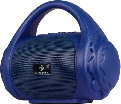 Zebronics  Zeb-County Bluetooth Speaker with Built-in FM Radio, Aux Input 3 W Bluetooth Speaker(Blue, Mono Channel)