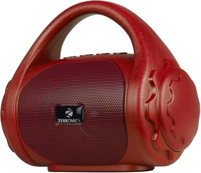 ZEBRONICS Zeb-County Bluetooth Speaker with Built-in FM Radio, Aux Input 3 W Bluetooth Speaker(Red, Mono Channel)