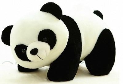HONEYDEAL Stuffed Soft Plush Toy Kids Birthday Black Panda 26 cm   26 cm Black, White HONEYDEAL Soft Toys