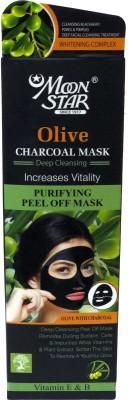 Moonstar Charcoal Mask Peel Off, Activated Blackhead Remove Mask(100 g)
