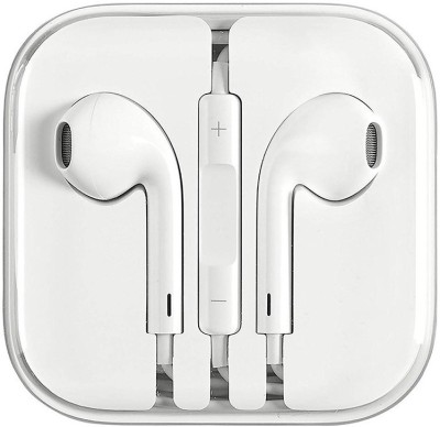 QBIT ESSENTIALS Original High Quality Earphone with Mic Wired Headset(White, In the Ear)