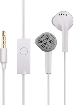 QBIT ESSENTIALS Original High Quality Earphone with Deep Bass and Mic Wired Headset(White, In the Ear)