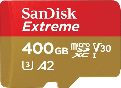 SanDisk Extreme 400 GB MicroSDXC UHS Class 3 160 Mbps Memory Card