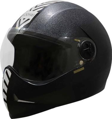 Steelbird sb-50 Adonis Dashing Motorsports Helmet(Silver, Black)