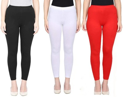 SVN RETAIL Ankle Length Ethnic Wear Legging(Red, Black, White, Solid)