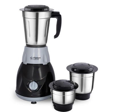 Flipkart SmartBuy PowerChef Storm 500 W Mixer Grinder(Grey, Black, 3 Jars)