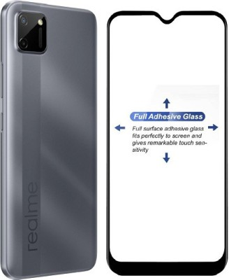 Mobizworld Edge To Edge Tempered Glass for Realme C11(Pack of 1)