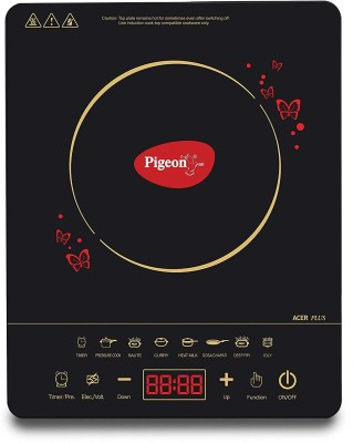Pigeon Acer plus Induction Cooktop(Black, Touch Panel)