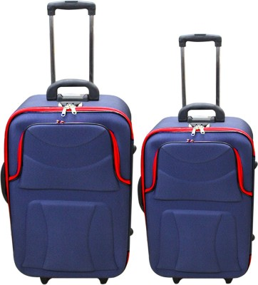 UNITED PARKER IMPORTED CLASSY 24+20 Check in Luggage   24 inch Blue