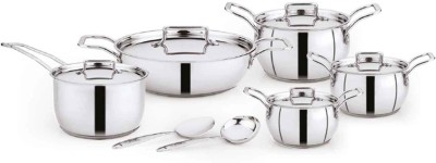 Pigeon Milano set of 12 Induction Bottom Cookware Set  (Stainless Steel, 12 - Piece)