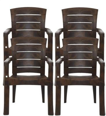 Restomatt Plastic Outdoor Chair(NA, Set of 4)