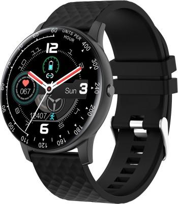 VIKYUVI Vikfit Gear Round Full Touch Control Smartwatch(Black Strap, Regular)