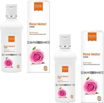 VLCC Rose Water Toner Pack of 2 Men & Women(100 ml)