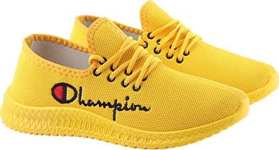 Chevit Fashion 482 Yellow Mesh Outdoor Casuals Running shoes for Men