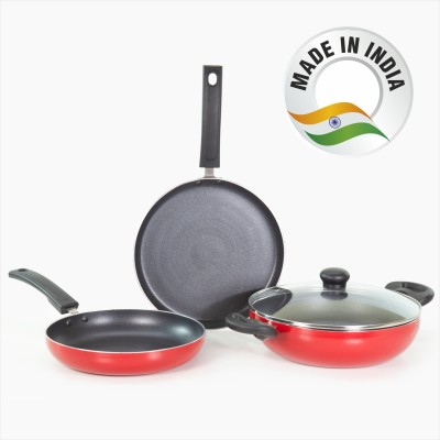 Butterfly Rapid Non Indcution Cookware Set(Aluminium, 3 - Piece)