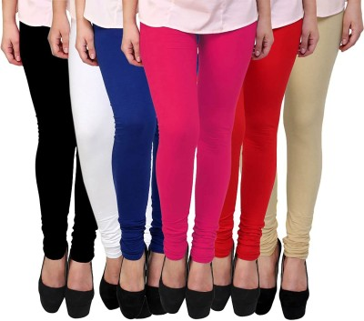 Aaru Collection Churidar  Legging(Red, White, Blue, Black, Pink, Beige, Solid)