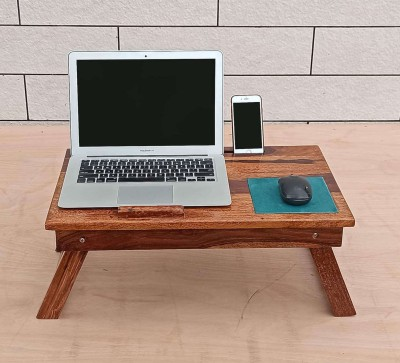 The Home Dekor Noh Lapdesk Wood Portable Laptop Table(Finish Color - Honey Finish)