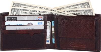 BullKraft Men Brown Genuine Leather Wallet 4 Card Slots