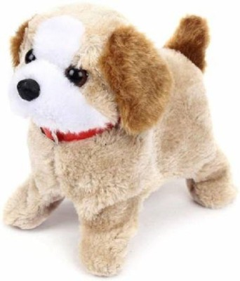 Khatushyam JUMPING PUPPY TOY Battery Operated Jumping Dog Run Jump Toy Best Gift For Kids Fantastic Puppy Battery Operated Jumping Dog Beige Khatushy