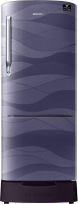 Samsung 215 L Direct Cool Single Door 4 Star  2020  Refrigerator with Base Drawer Purple Wave, RR22T385XRV/HL Samsung Refrigerators