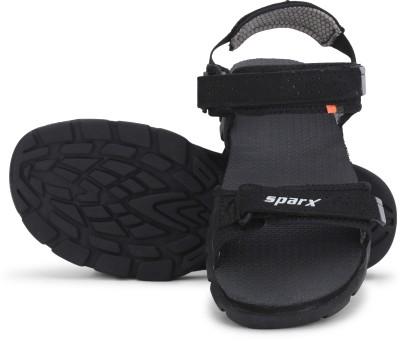 Sparx SS-119 Men Black, Grey Sandals