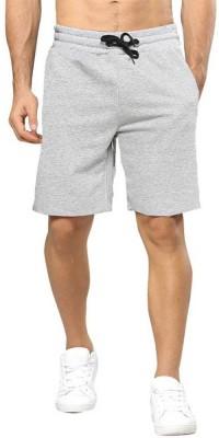 TRIPR Solid Men Grey Regular Shorts