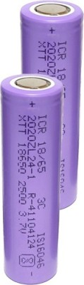 Cryonics India Rechargeable Lithium Ion 18650 Cell 3.7V 2500mAh 3C DIY Mobile Charging Power Bank (not AAA or AA) (PACK...