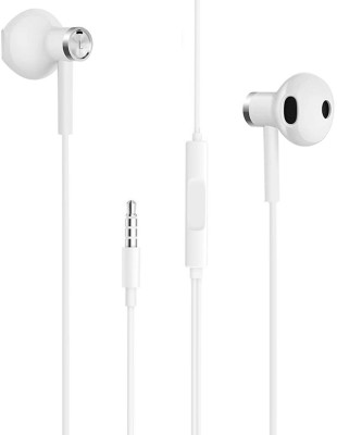 HELOKUKI R_ed_mi Note 9 Pro / Note 9 / Note 8 / Note 8 Pro / 8 / 8A / Wired Headset(White, In the Ear)